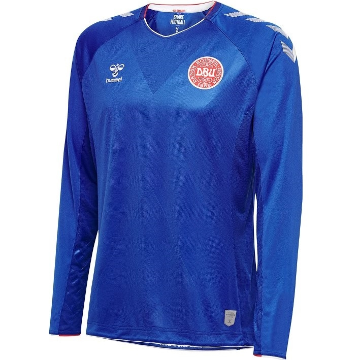 Image of   Denmark goalie jersey L/S 2018/19 - youth - blue-152