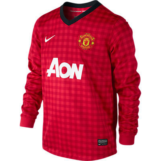 Image of   Manchester United hjemme trøje L/Æ 2012/13-YXS | 116-128
