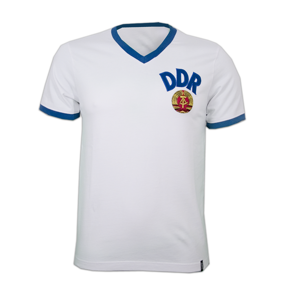 Copa DDR Away WC 1974 Short Sleeve Retro Shirt-S   47-49