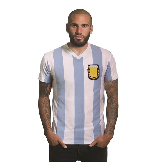 Image of   Argentina 1982 V-Neck T-Shirt | White-2 Extra Large