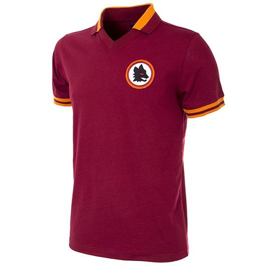 AS Roma 1978 - 79 Short Sleeve Retro Football Shirt-Small