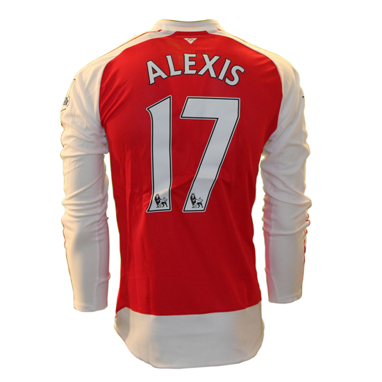 Image of   Arsenal home jersey L/S - Alexis 17-M