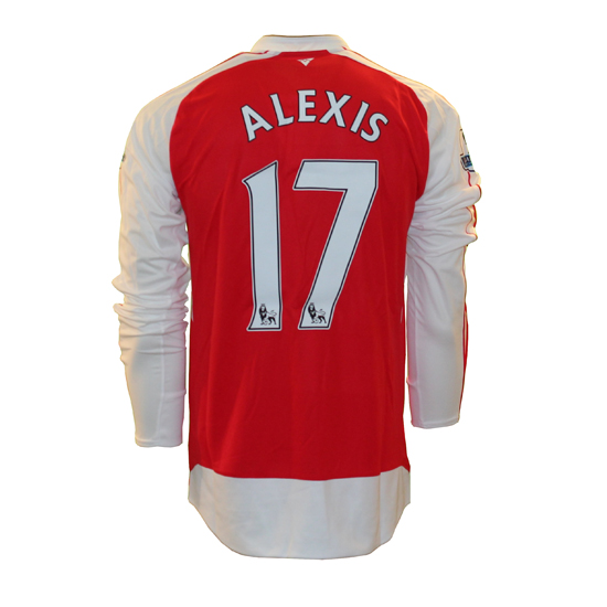 Image of   Arsenal home jersey L/S - Alexis 17-L