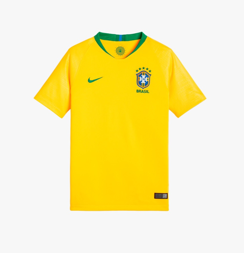 Image of Brazil home jersey World Cup 2018 - youth-YL | 147-158
