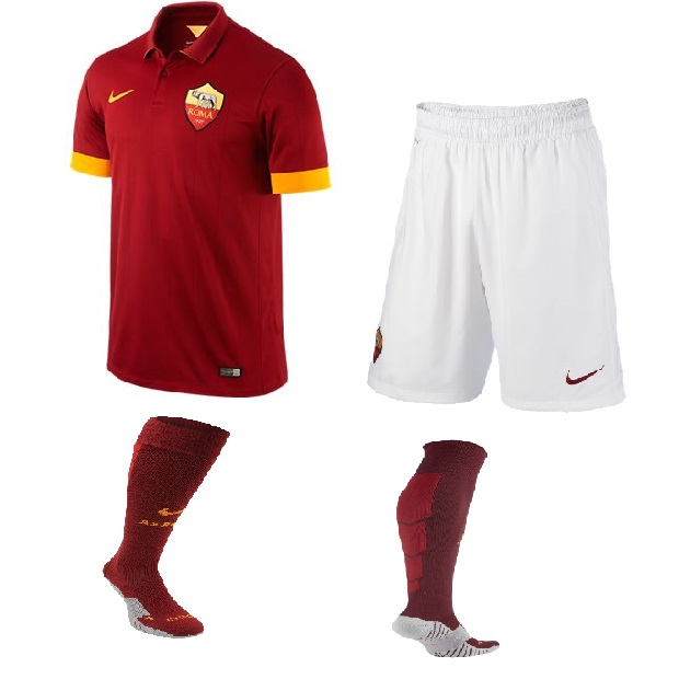 Image of   AS Roma hjemme shorts 2014/15 - børn-YXL | 158-170