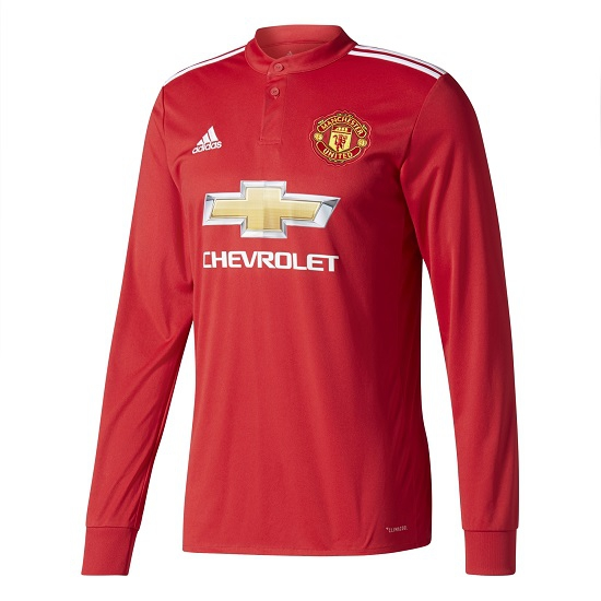 Image of   Manchester United home jersey L/S 2017/18-3XL