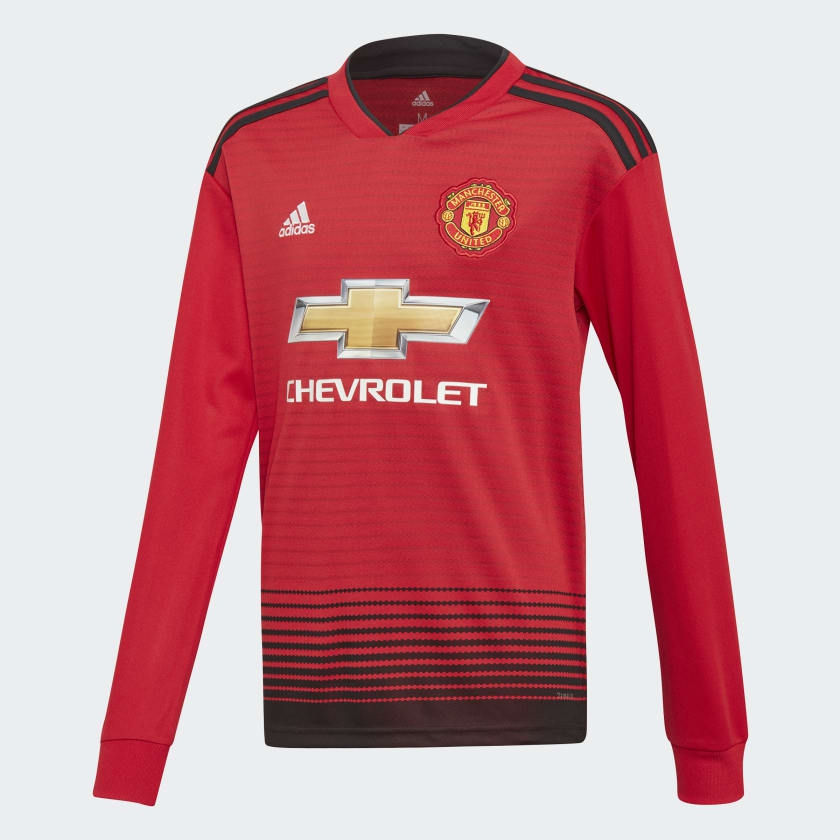 Image of   Manchester United home jersey L/S 2018/19 - youth-176