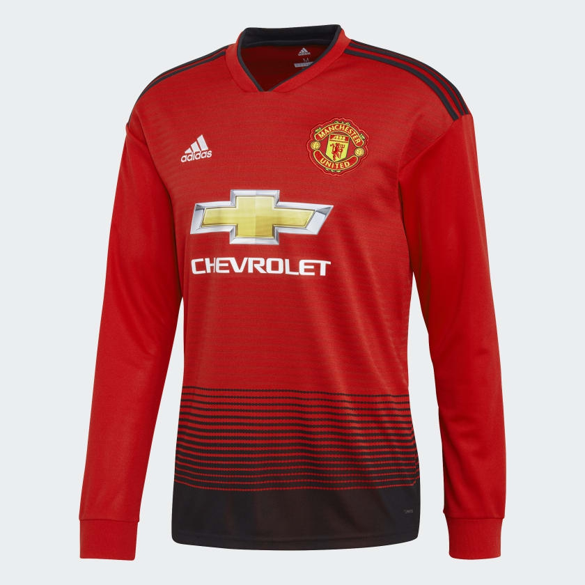 Image of   Manchester United home jersey L/S 2018/19-S