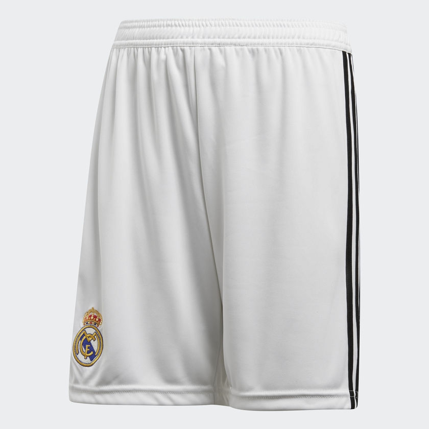 Billede af 2018-2019 Real Madrid Adidas Home Shorts (White) - Kids-176