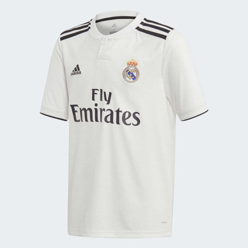 Image of   Real Madrid home jersey 2018/19 - La Liga - youth-140
