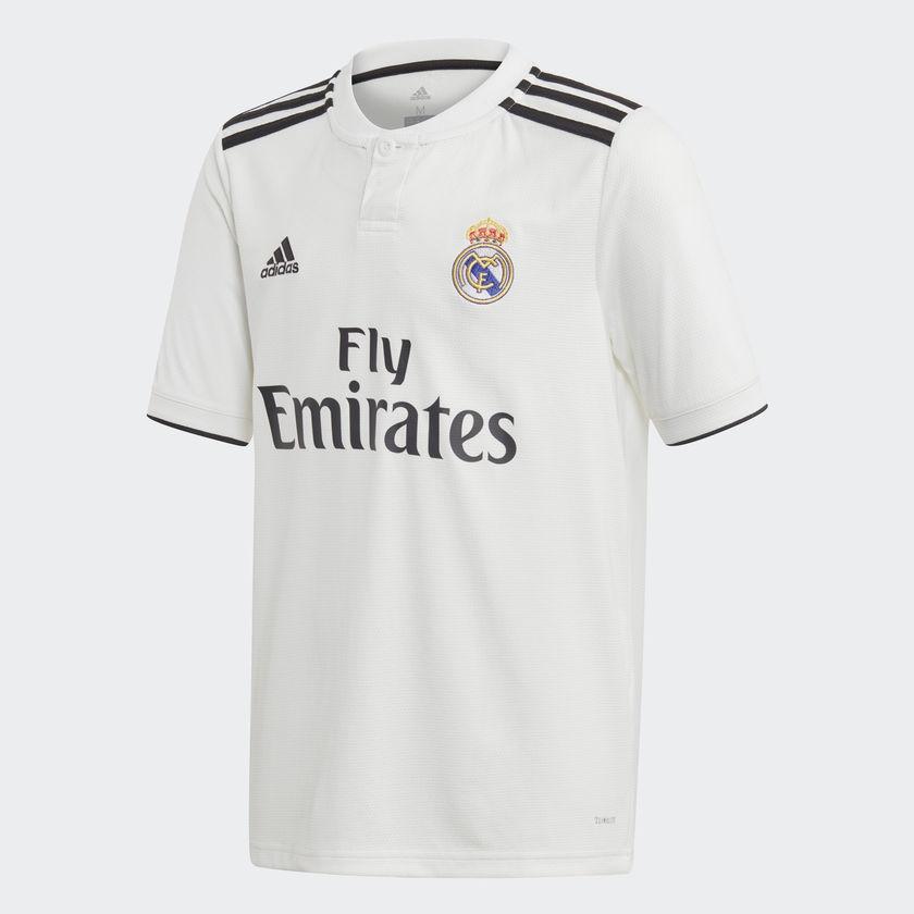 Image of   Real Madrid home jersey 2018/19 - La Liga - youth-128