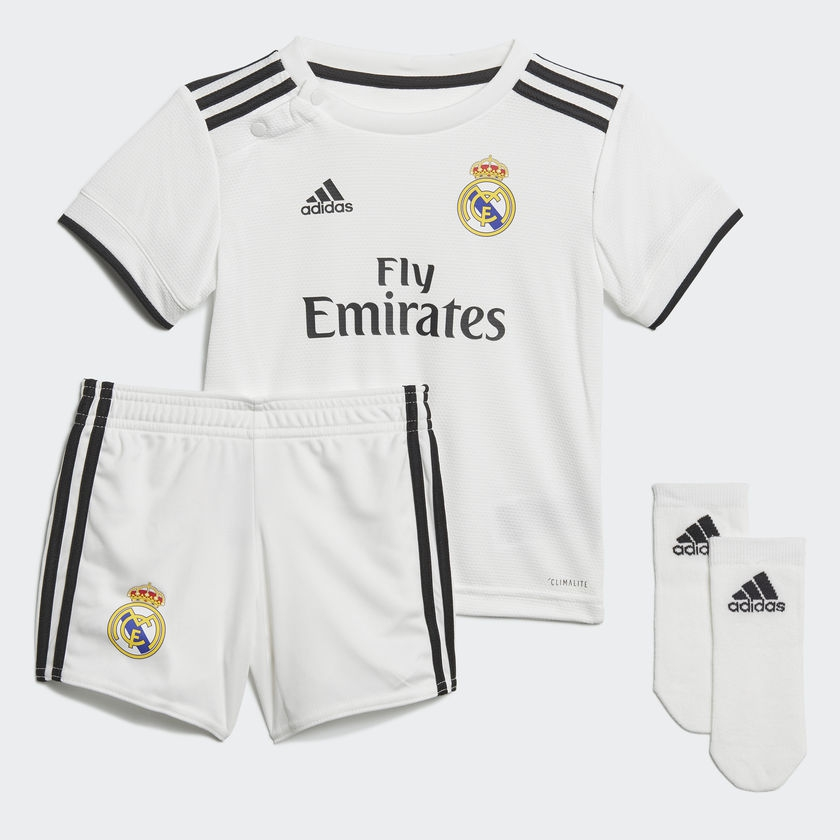Image of   2018-2019 Real Madrid Adidas Home Baby Kit-80