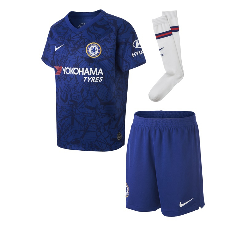 Image of Chelsea home kit 2019/20 - little boys-XL | 122-128