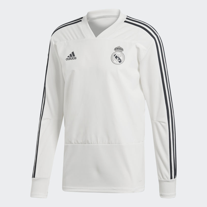 Image of   2018-2019 Real Madrid Adidas Training Top (White)-S