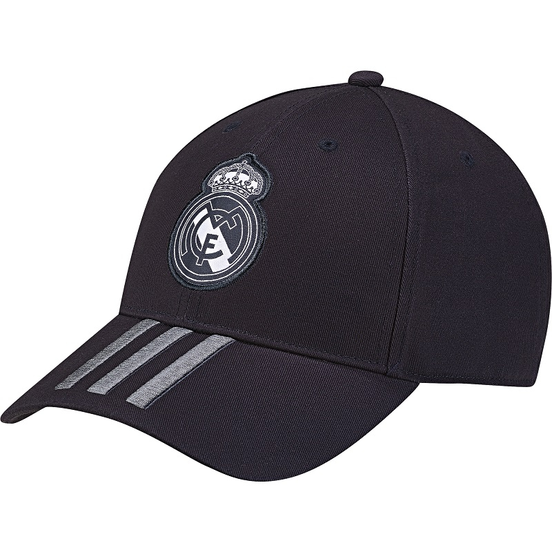 Image of   2018-2019 Real Madrid Adidas 3 Stripe Baseball Cap (Dark Grey)-M
