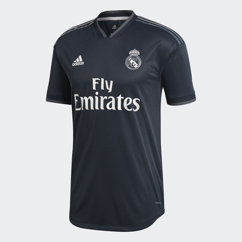Image of 2018-2019 Real Madrid Adidas Authentic Away Football Shirt-L