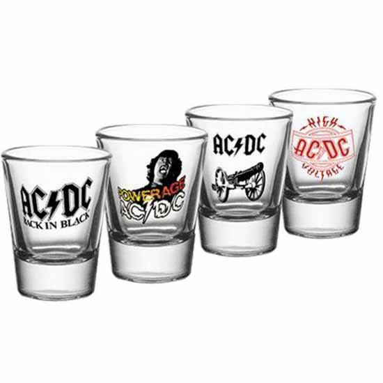 AC/DC 4 Pack Shot Glass Set