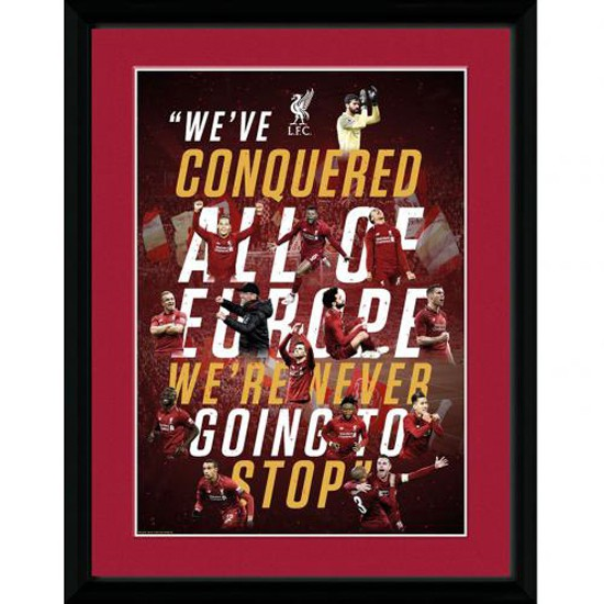 Liverpool FC Champions Of Europe Picture 16 x 12