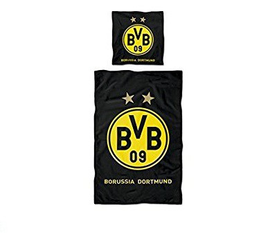 3b3f846714e Dortmund sengetøj - stort logo | Dortmund sengesæt i sort og gul