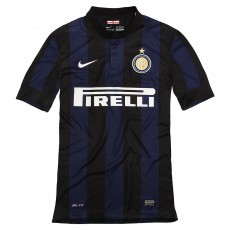 Inter milan short sleeve home replica jarsy 2013/14
