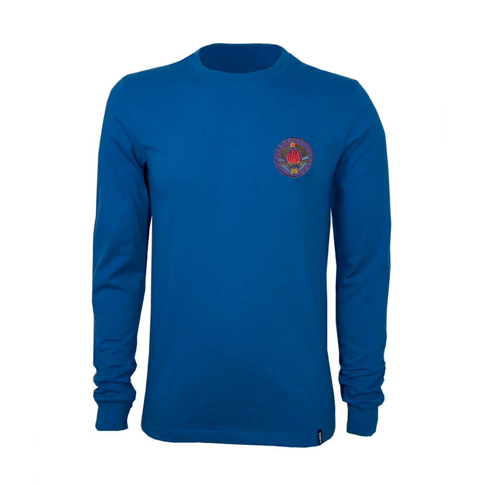 Copa Jugoslavien VM 1974 retro trøje med lange ærmer
