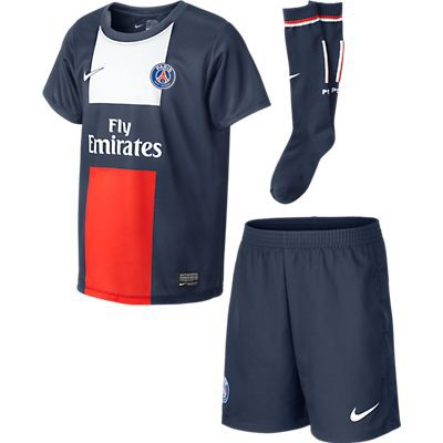 Paris saint germain little boys home kit 2013/14
