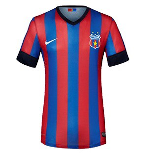 Steaua Bucharesti short sleeve home stadium jersey 2013/14