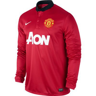 Manchester united home jersey long sleeve 2013/14