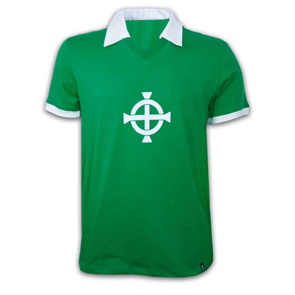 Nordirland 1977 retro trøje korte ærmer