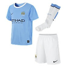 Manchester City little boys home kit 2013/14