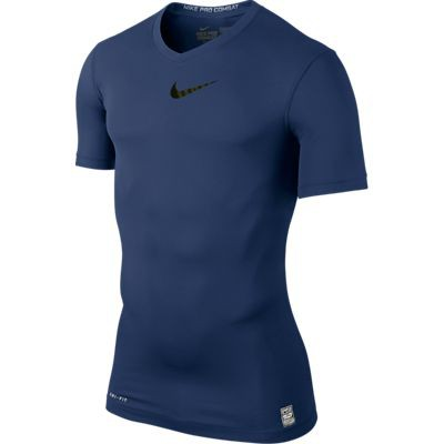 Nike Pro Combat short sleeve top - navy
