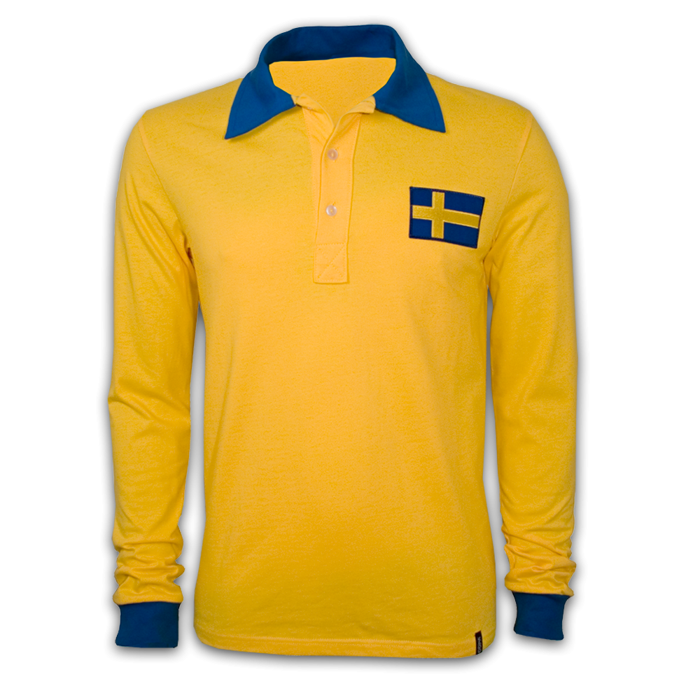 Copa Sweden Wc 1958 Long Sleeve Retro Shirt