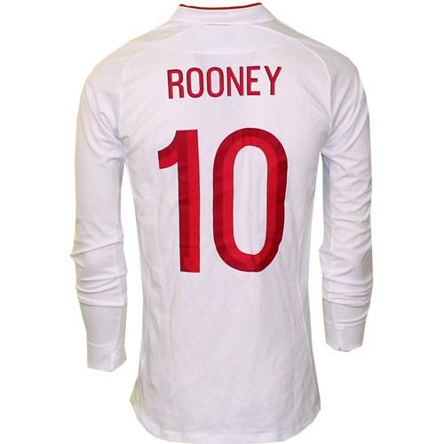 England hjemme trøje lange ærmer 2012 Rooney 10