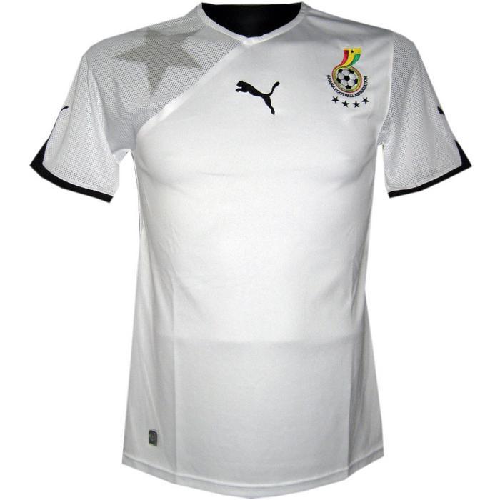 Ghana home jersey 2010