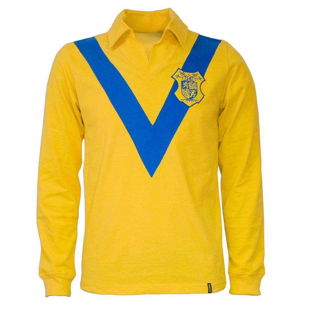 Copa R.K.C. Waalwijk 1960erne retro trøje lange ærmer
