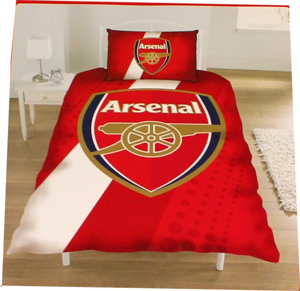 Arsenal duvet diagonal stripe