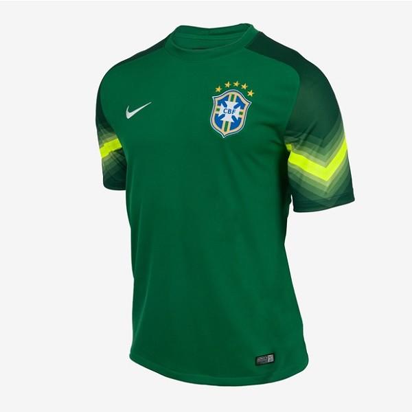 Brasilien hjemme målmands trøje VM 2014
