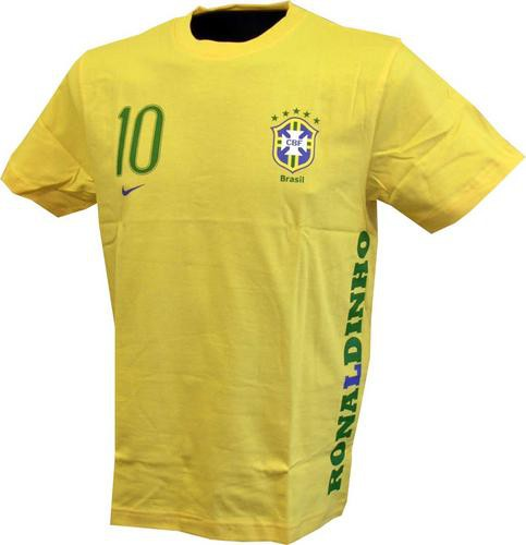 Brazil tee Ronaldinho 10