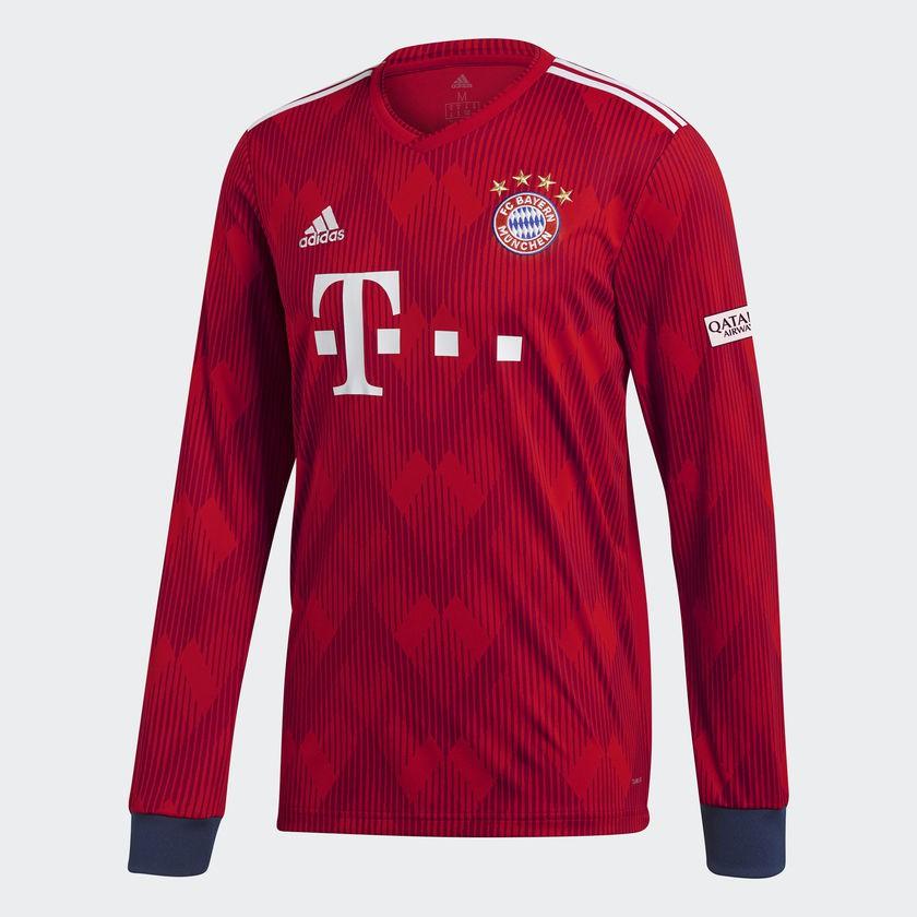 Bayern boys long sleeve home jersey