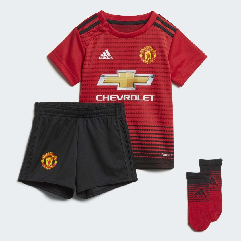 man utd home kit - baby