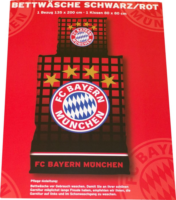 FC Bayern duvet set black red 2013/14