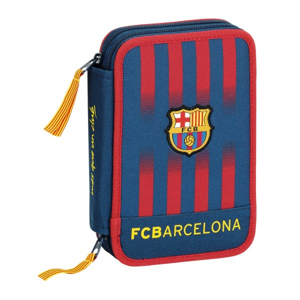 FC Barcelona pencil case filled 34 pieces blau grana