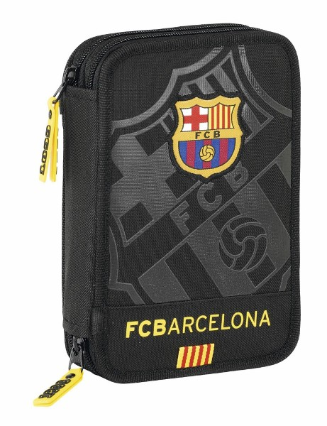 FC Barcelona pencil case filled 34 pieces black