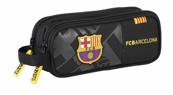 FC Barcelona pencil case black logo