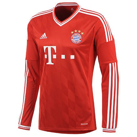 FC bayern home jersey long sleeve 2013/14 - youth