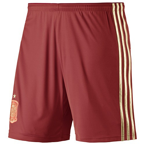 Spain home shorts World Cup 2014