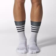 Adidas crew light weight socks - white