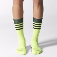Adidas crew light weight socks - lime green