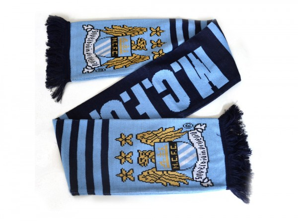 Manchester City scarf - blue navy