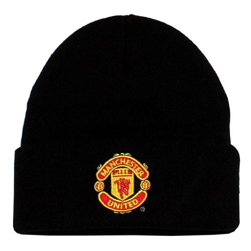 Manchester United knitted hat black